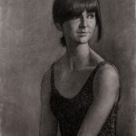 Olya (2011) charcoal on grey paper, 16 x 20 inches